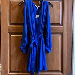 Cold shoulder dress size medium/royal blue